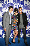 Dijon Talton, Lea Michele and Harry Shum, Jr. star in GLEE as he attends the FOX 2010 Programming Presentation (Upfronts) Post-Party on May 18, 2010 at Wollman Rink in Central Park, New York City, New York.  (Photo by Sue Coflin/Max Photos)