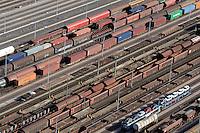 Rangierbahnhof Maschen: EUROPA, DEUTSCHLAND, NIEDERSACHSEN, MASCHEN, (EUROPE, GERMANY), 19.10.2012: Rangierbahnhof Maschen, Der Bahnhof Maschen ist der groesste Rangierbahnhof Europas. Eroeffnet wurde er im Jahre 1977