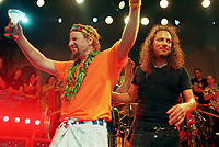 Sammy Hagar and Kirk Hammet<br />