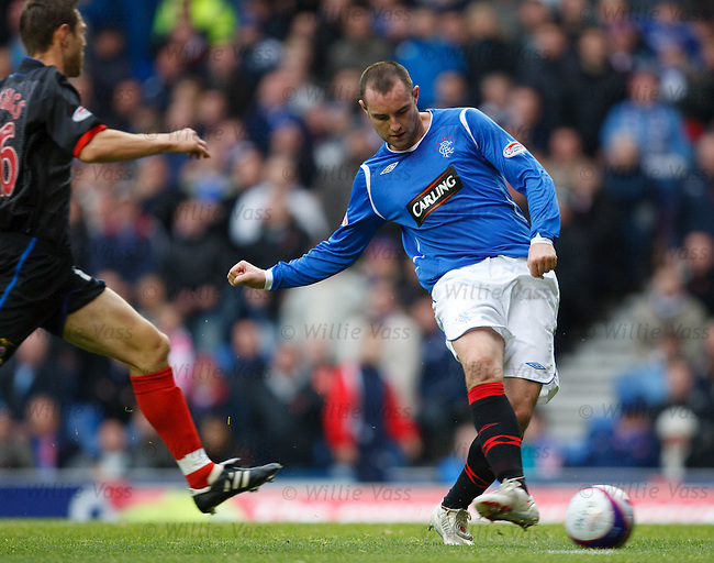 Kris Boyd scores the second goal for Rangers