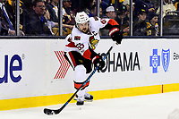 Tuesday, March 21, 2017: Ottawa Senators defenseman Erik Karlsson (65) in action during the National Hockey League game between the Ottawa Senators and the Boston Bruins held at TD Garden, in Boston, Mass. Ottawa defeats Boston 3-2 in regulation time. Eric Canha/CSM