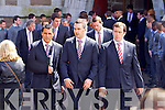 Munster Rugby Players at Donal Walsh's funeral at Saint Johns Church, Tralee on Wednesday.
