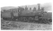 RGS 4-6-0 #22 headed north at Dolores.<br /> RGS  Dolores, CO  Taken by Winters, Charles E. - 8/5/1940