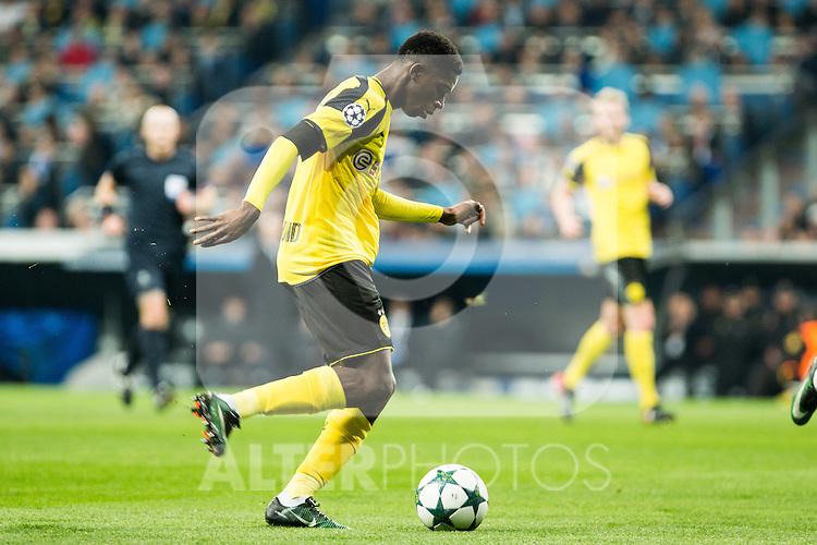 Borussia Dortmund Ousmane Cembele  during Champions League match between Real Madrid and Borussia Dortmund  at Santiago Bernabeu Stadium in Madrid , Spain. December 07, 2016. (ALTERPHOTOS/Rodrigo Jimenez)