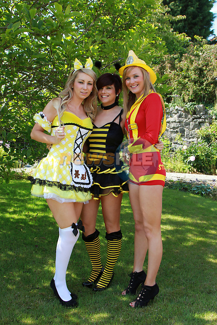 Tara Nash, Donna Woods and Louise Carroll at  the Gary Kelly Centre before heading to the Bellewstown Races...(Photo credit should read Jenny Matthews www.newsfile.ie)....This Picture has been sent you under the conditions enclosed by:.Newsfile Ltd..The Studio,.Millmount Abbey,.Drogheda,.Co Meath..Ireland..Tel: +353(0)41-9871240.Fax: +353(0)41-9871260.GSM: +353(0)86-2500958.email: pictures@newsfile.ie.www.newsfile.ie.