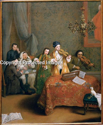 The Concert. 1741. Oil on canvas, 60 x 48 cm.