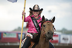 Flag girl during the Cody Stampede event in Cody, WY - 7.2.2019 Photo by Christopher Thompson