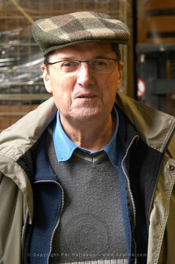 Alain Voge wearing a cap.  Alain Voge, Cornas, Ardeche, Ardèche, France, Europe