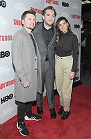 NEW YORK, NEW YORK - JANUARY 09: Robert Iler, Michael Gandolfini and Jamie-Lynn Sigler attends the 'The Sopranos' 20th Anniversary Panel Discussion at SVA Theater on January 09, 2019 in New York City. Credit: John Palmer/MediaPunch