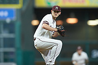 Mississippi State Bulldogs starting pitcher Ethan Small (44) in action against the Houston Cougars in game six of the 2018 Shriners Hospitals for Children College Classic at Minute Maid Park on March 3, 2018 in Houston, Texas. The Bulldogs defeated the Cougars 3-2 in 12 innings. (Brian Westerholt/Four Seam Images)