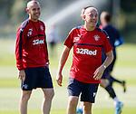 Mark Warburton and Davie Weir laughing