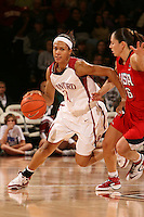 15 November 2007: Stanford Cardinal Rosalyn Gold-Onwude during Stanford's 97-62 loss against the USA Women's National Basketball Team at Maples Pavilion in Stanford, CA.