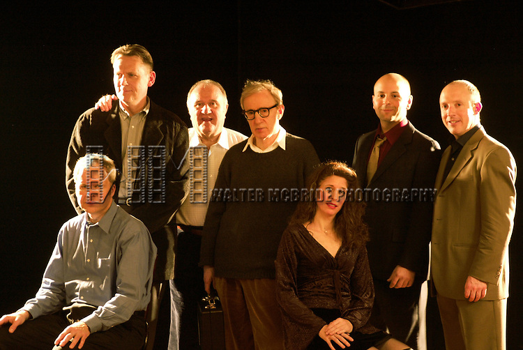 *** EXCLUSIVE Coverage ***.Woody Allen and his New Orleans Jazz Band .performing at Theatre Mogador in Paris, France.during their Winter Tour - December 2004..December 20, 2004.(pictured:  Jerry Zigmont, Simon Wettenhall, Eddy Davis, Woody Allen, Cynthia Sayer, Robert Garcia & Conal Fowkes).© Walter McBride / .*** SPECIAL FEES ***
