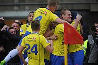 VOETBAL: CAMBUURSTADION: LEEUWARDEN: 15-12-2013, SC Cambuur AJAX, uitslag 1-2, Michiel Hemmen scoort de 1-1 voor Cambuur, ©foto Martin de Jong