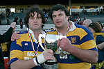 Dave Cunningham & Buck Manning.McNamara Cup final - Premier 1 Championship, Patumahoe v Ardmore Marist. Patumahoe won 13 - 6. Counties Manukau club rugby finals played at Growers Stadium, Pukekohe, 24th of June 2006.