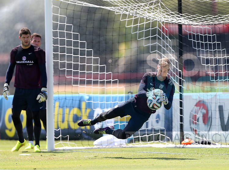 England's Joe Hart in action during training<br /> <br /> England Training &amp; Press Conference  - Barry University - Miami - USA - 06/06/2014  - Pic David Klein/Sportimage