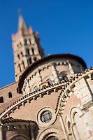France, Haute-Garonne (31), Toulouse, Basilique Saint-Sernin, étape sur le chemin de Saint-Jacques-de-Compostelle - // France, Haute Garonne, Toulouse,  Basilica of St. Sernin,
