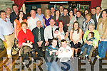 Celebrations - Ed Delaney and Lisa Donovan from Shanakil seated centre having a wonderful time in The Greyhound Bar with family and friends at the Christening party for their son Jack following the ceremony in St Brendan's Church on Saturday.