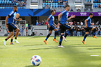 San Jose, CA - Saturday March 31, 2018: San Jose Earthquakes  prior to a Major League Soccer (MLS) match between the San Jose Earthquakes and New York City FC at Avaya Stadium.