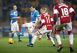 St Johnstone v Hamilton Accies…28.01.17     SPFL    McDiarmid Park<br />Paul Paton and Ali Crawford<br />Picture by Graeme Hart.<br />Copyright Perthshire Picture Agency<br />Tel: 01738 623350  Mobile: 07990 594431
