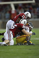 4 November 2006: Chris Horn and Carlos McFall during Stanford's 42-0 loss to USC at Stanford Stadium in Stanford, CA.