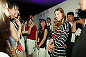 American socialite Olivia Palermo greets her fans during the ''ELLE Women in Society'' event on July 13, 2015, Tokyo, Japan. The event promotes the working women's roll in Japanese society with various seminars where top businesswomen, musicians, writers and other international celebrities speak about the working women's roll in the world. By 2020 Prime Minister Shinzo Abe's administration aims to increase the percentage of women in leadership positions to 30% in Japan. (Photo by Rodrigo Reyes Marin/AFLO)