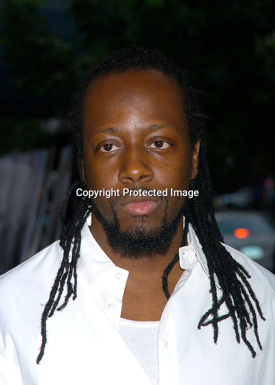 """Wyclef Jean ..at the World Premiere of """"The Manchurian Candidate"""" ..on July 19, 2004 at the Clearview Cinema's Beekman ..Theatre. Photo by Robin Platzer, Twin Images"""