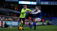 Sheffield United's Mark Duffy battles with  Ipswich Town's Freddie Sears<br /> <br /> Photographer Hannah Fountain/CameraSport<br /> <br /> The EFL Sky Bet Championship - Ipswich Town v Sheffield United - Saturday 22nd December 2018 - Portman Road - Ipswich<br /> <br /> World Copyright © 2018 CameraSport. All rights reserved. 43 Linden Ave. Countesthorpe. Leicester. England. LE8 5PG - Tel: +44 (0) 116 277 4147 - admin@camerasport.com - www.camerasport.com