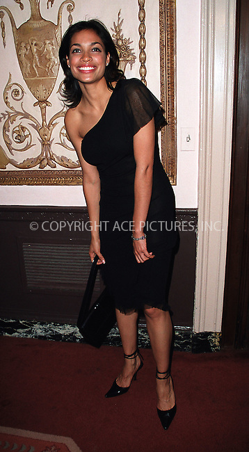 """Rosario Dawson, who is currently filming the """"25th Hour"""" with Ed Norton, arrives at Waldorf-Astoria for the 3rd Annual Directors Guild of America Awards. New York, June 9, 2002. Please byline: Alecsey Boldeskul/NY Photo Press.   ..*PAY-PER-USE*      ....NY Photo Press:  ..phone (646) 267-6913;   ..e-mail: info@nyphotopress.com"""