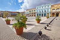 Cuba, Havana.  Plaza Vieja, Originally Laid out in 1559.
