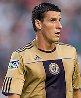 Philadelphia Union forward Sebastien Le Toux (9). The Philadelphia Union and CD Chivas USA played to 1-1 draw at Home Depot Center stadium in Carson, California on Saturday evening July 3, 2010..