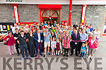 Great turn out for the opening of Fitzpatricks Spar Express new look store in Cahersiveen on Friday as Ryan Andrews from 'Fair City' cuts the ribbon.