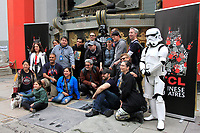 LOS ANGELES - MAY 24: Star Wars Fans at a ceremony to unveil a commemorative plaque in honor of Carrie Fisher at TCL Chinese Theatre IMAX on May 24, 2018 in Los Angeles, CA