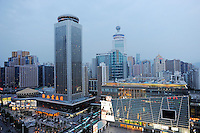 Cityscape of Shenzhen, China..