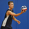 Ben Sandt #7 of Northport serves during the round-robin portion of a Suffolk County varsity boys volleyball tournament match against Connetquot at Northport High School on Saturday, Sept. 10, 2016.