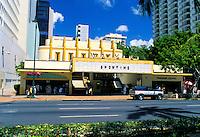 Waikiki Movie Theatre.  Located on Kalakaua ave. in the heart of bustling Waikiki.