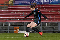 Bridgeview, IL - Saturday March 31, 2018: Michele Vasconcelos during a regular season National Women's Soccer League (NWSL) match between the Chicago Red Stars and the Portland Thorns FC at Toyota Park.