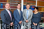 At the offices of Pierce McCarthy Lucey Solicitors in Ashe Street<br /> L-r, Niall Lucey, Alex Hoffman, Risteard Pierse and Katie McCarthy.