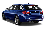 Car pictures of rear three quarter view of a 2018 BMW 3 Series Touring 330i xDrive 5 Door Wagon angular rear