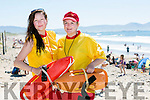 Banna Beach life Guards on the Hottest Day of the on Monday   l-r  Alex Redlick, who is a student at the  IT Galway and Ciara Lynch, who is a student at the IT Tralee