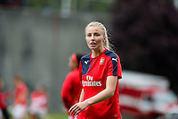 Seattle, WA - Thursday, May 26, 2016: Arsenal Ladies FC midfielder Leah Williamson (14). The Seattle Reign FC of the National Women's Soccer League (NWSL) and the Arsenal Ladies FC of the Women's Super League (FA WSL) played to a 1-1 tie during an international friendly at Memorial Stadium.