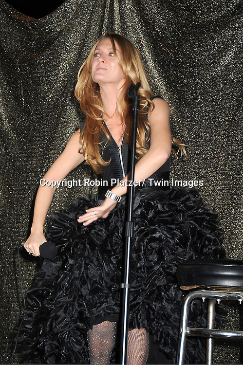 "BethAnn Bonner in Sohung Desing black puffy dress sings at The ""Daytime Meets Nighttime"" hosted by .The Imperial Court of New York on November 4, 2011 at .The Jan Hus Theatre in New York City. The benefit was for The Jan Hus Theatre and Lifebeat."