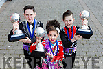 Mark Clifford, Saoirse Clifford Killarney and Sean Slemon Moyvane from the Shehan Murphy school of dancing who were successful in the World Championships in City West Dublin last weekend
