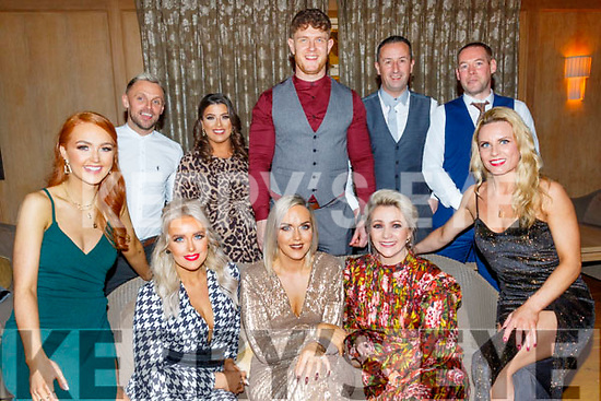 Looking good at the Lee Strand social last Saturday night in the Ballygarry House hotel, Tralee, seated L-R Rebbeca Stack, Mags Sugrue, Leah Hamill, Jeannett Quirke and Audrey Reidy, back L-R James Sugrue, Nicole Rusk, Shane Guthrie, Adrain Quirke and Jonathan Burrows.