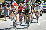 The 7 man breakaway group during Stage 5 of the 2018 Tour de France running 204.5km from Lorient to Quimper, France. 11th July 2018. <br /> Picture: ASO/Pauline Ballet | Cyclefile<br /> All photos usage must carry mandatory copyright credit (&copy; Cyclefile | ASO/Pauline Ballet)