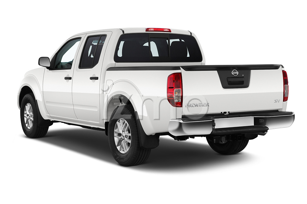 Car pictures of rear three quarter view of a 2019 Nissan Frontier SV 4 Door Pick Up angular rear