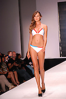 Eugene Jones Swimwear Model, Elena Kurnosova, at Miami Beach International Fashion Show, Miami Beach Convention Center, Miami, FL - March 3, 2011