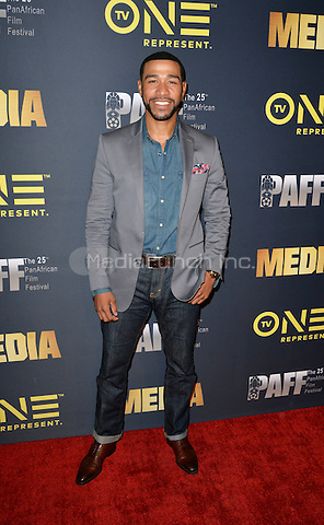 "LOS ANGELES, CA- FEBRUARY 15: Blue Kimble at the ""Media"" Movie Premiere at the Pan African Film Festival at Cinemark Baldwin Hills in Los Angeles, California on February15, 2017. Credit: Koi Sojer/Snap'N U Photos/MediaPunch"
