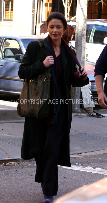 WWW.ACEPIXS.COM . . . . .  ....NEW YORK, MARCH 16, 2006....Catherine Zeta-Jones on the 'Mostly Martha' film set.....Please byline: AJ Sokalner - ACEPIXS.COM.... *** ***..Ace Pictures, Inc:  ..Philip Vaughan (212) 243-8787 or (646) 769 0430..e-mail: info@acepixs.com..web: http://www.acepixs.com
