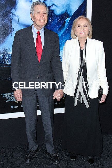 """NEW YORK, NY - FEBRUARY 11: Jeffrey Hayden, Eva Marie Saint at the World Premiere Of Warner Bros. Pictures' """"Winter's Tale"""" held at Ziegfeld Theatre on February 11, 2014 in New York City. (Photo by Jeffery Duran/Celebrity Monitor)"""